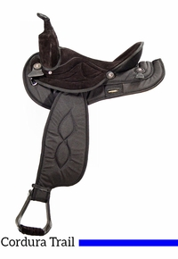 """14"""" to 17"""" Big Horn Black Synthetic Saddle 599 600 601 602 603 604"""