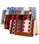 Riverland Woven Straight Cut/Fleece Saddle Pad 1423