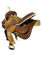 SOLD 2021/05/31  17 Inch Used Billy Cook Saddlery Barrel Saddle 73251 *Free Shipping*