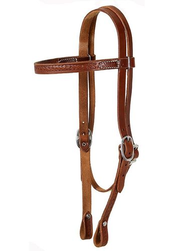 South Bend Basket Tooled Browband Headstall 4387
