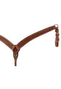 South Bend Saddle Co. Basket Tooled Breast Collar 5387