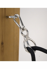 The Blocker Tie Ring Chrome Plated with Magnetic Lock 10-340