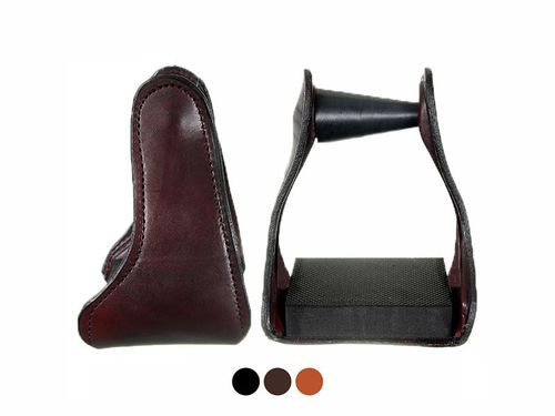 Tucker Ergo Balance Leather Covered Trail Glide Stirrups 241