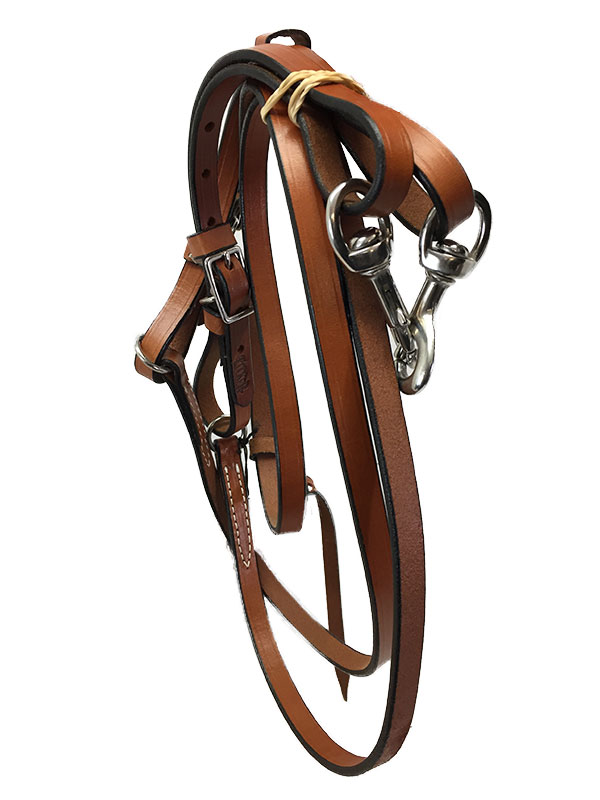 """5//8/"""" x 9/' Tucker Adjustable Trail Rein with Snap Ends and Watering String"""