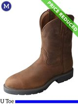 11 Wide Twisted X Distressed Saddle Work Boots MWP0001