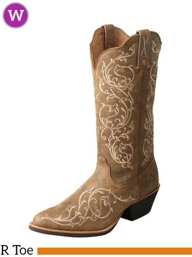 "Twisted X Women's Western 12"" R Toe Boots WWT0036"