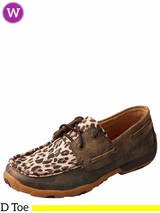 Women's Twisted X Distressed Leopard Driving Moccasins WDM0057