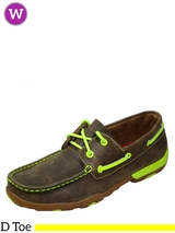 Women's Twisted X Bomber/Neon Yellow Driving Moccasins WDM0010