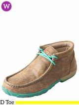 Women's Twisted X Turquoise/Bomber Driving Moccasins WDM0020