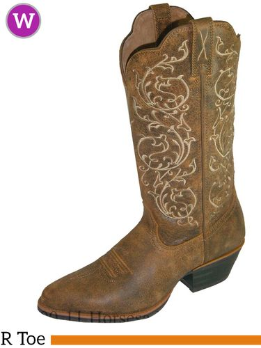 """Twisted X Women's Western 12"""" R Toe Boots Bomber WWT0025"""