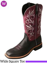 Twisted X Women's Maroon Top Hand Boot WTH0010
