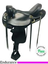 "17"" Used Saddle National Bridle Shop by Big Horn Gaited Endurance Tennessean 6710 usnb4299 *Free Shipping*"