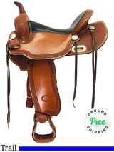 "16"" Used Billy Cook Trail Saddle 1855 usbi4291 *Free Shipping*"