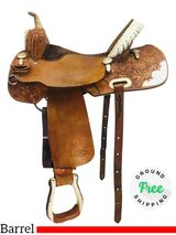 "PRICE REDUCED! 15.5"" Used Billy Cook Barrel Saddle CJ 2001 usbi4294 *Free Shipping*"