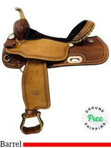 """SOLD 2019/02/27  16"""" Used Billy Cook Spotted Barrel Racer 1530 usbi4434 *Free Shipping*"""