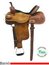 "PRICE REDUCED! 14.5"" Used Circle Y Barrel Kelly Kaminski Shining Star Saddle 2100 uscy4279 *Free Shipping*"