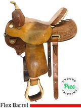 "PRICE REDUCED! 15"" Used Circle Y Flex Barrel Saddle Velocity 1532 uscy4295 *Free Shipping*"