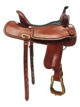 """PRICE REDUCED! 17"""" Used Crazy W Ranch Custom Trail Saddle uscw4289 *Free Shipping*"""