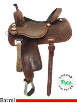 "PRICE REDUCED! 15"" Used Martin Barrel Saddle Sherry Cervi Crown C usmr4296 *Free Shipping*"