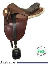 "17"" Used Syd Hill Australian Stock Saddle R2119 ussh4251 *Free Shipping*"