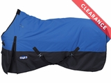 Waterproof Royal Blue Poly Turnout Blanket, Med/Heavy CLEARANCE