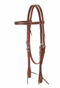 Weaver Barbed Wire Browband Headstall 10-0367
