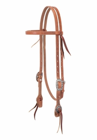 Weaver Buttered Premium Harness Leather Browband Headstall 10-0650