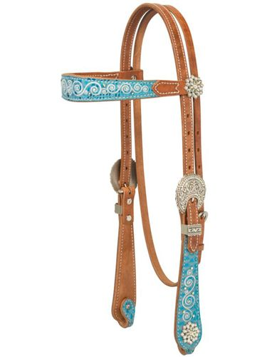 Weaver Snowflake Browband Headstall 10-0401