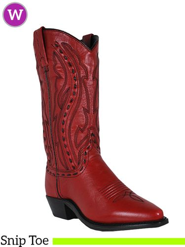 Women's Abilene Hand Laced Red Western Boots 9002
