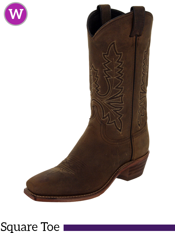 cb2168e748a Women's Abilene Olive Brown Oiled Cowhide Western Boots 9011