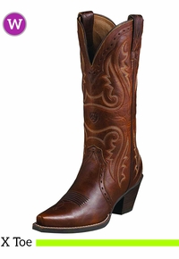 Women's Ariat Heritage Western X Toe Boots 10005908