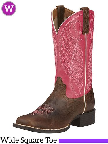 7.5B 8B 9B Women's Ariat Round Up Wide Square Toe Boots 10016319