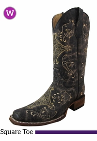 Women's Circle G by Corral Brown Crackle Boots L5078