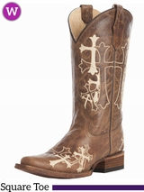 Women's Circle G by Corral Embroidered Cross Boots L5042