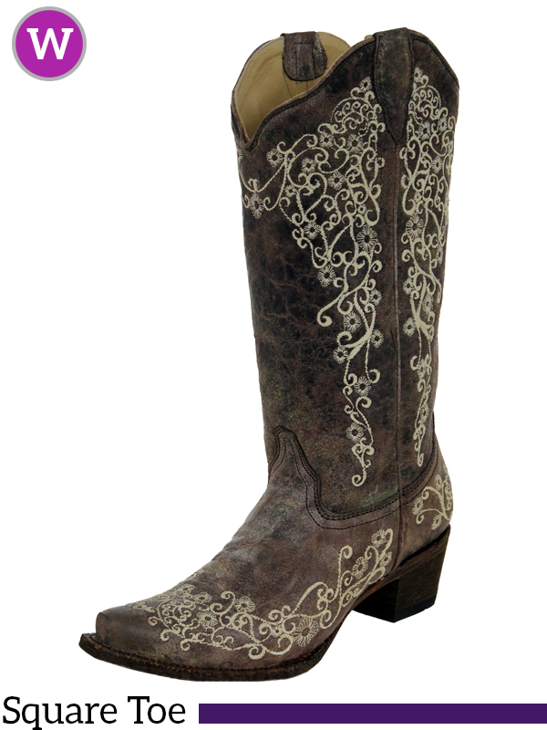 322fc56c0 Women's Corral Crater Bone Embroidery Boot A1094