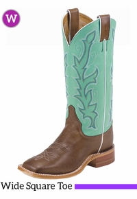 Women's Justin Albany Sea Green Bent Rail� Boots BRL310 ZDS