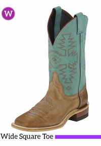 Women's Justin Light Blue Bent Rail� Boots BRL355