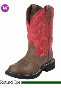 6B Women's Justin Red Burnished Calf Gypsy™ Boots 9921 ZDS