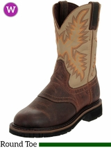 Women's Justin Brown Waxy Stampede Work Boots 4660