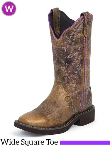 Women's Justin Tan Raya Distressed Boots L2918