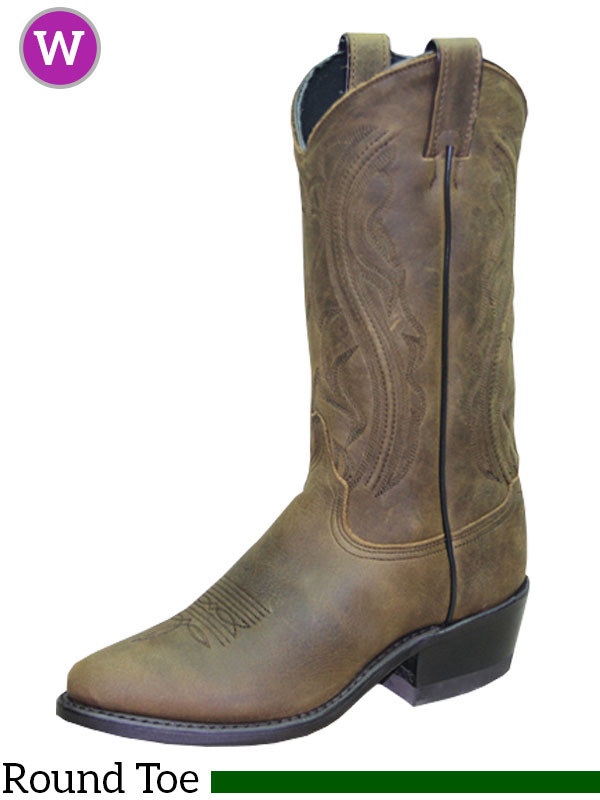 ac8e348a3c4 Women's Sage Longhorn Olive Brown Western Boots 3551
