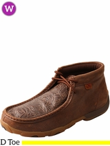 Women's Twisted X Brown/Brown Print Driving Moccasins WDM0079