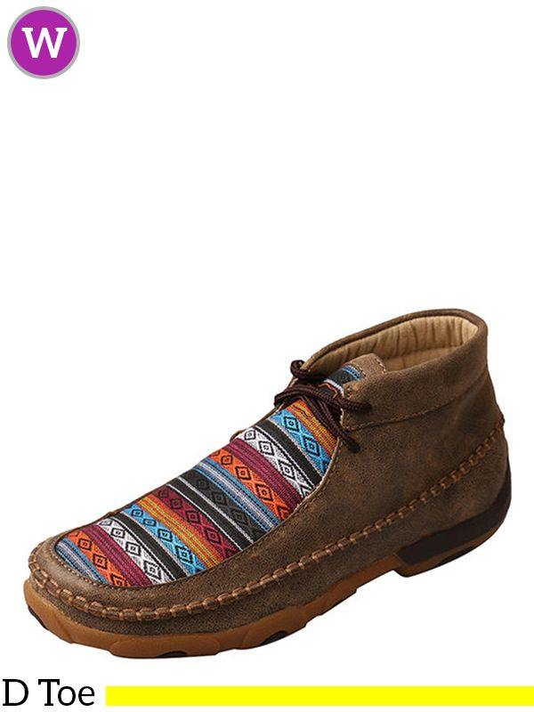TWISTED X Kids Driving Handcrafted Leather Casual Moccasins 3 Medium Bomber//Multi