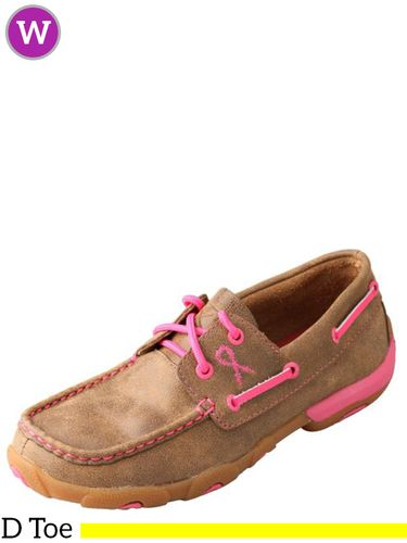 Women's Twisted X Neon Pink Driving Moccasins WDM0018