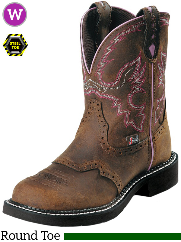 af2db51e25e Women's Justin Wanette Brown Steel Toe Gypsy™ Work Boots L9980