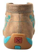 Women's Twisted X Brown/Turquoise Chukka Driving Moccasins WDM0117