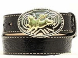 Youth Black Belt with Buckle by Nocona Belt Co. N4410401