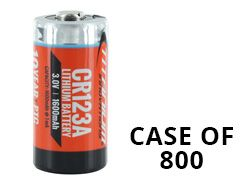 Titanium Innovations CR123A (800PK) 1600mAh 3V 3A Lithium Primary (LiMNO2) Button Top Photo Batteries - Box of 800