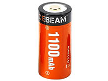 Acebeam 18350 1100mAh 3.7V Lithium Ion (Li-ion) Button Top Battery with Micro USB Charging Port - Bulk