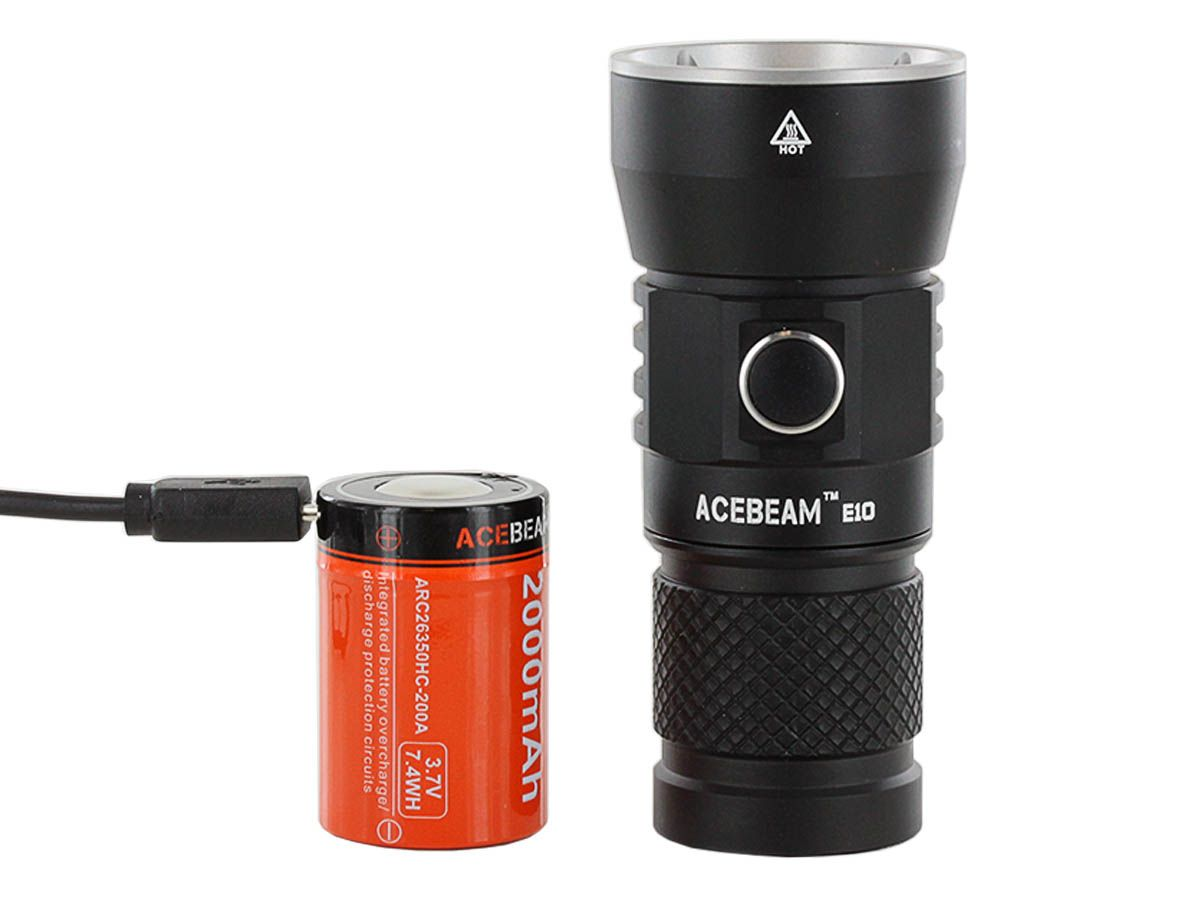 Acebeam E10 with battery